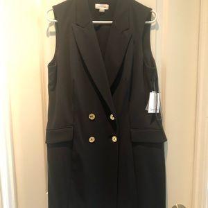 Sleeveless Calvin Klein coat dress